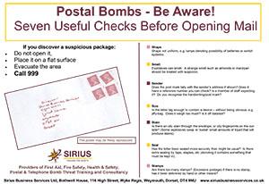 Postal Bomb Safety Poster