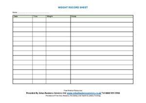 weight-record-sheet